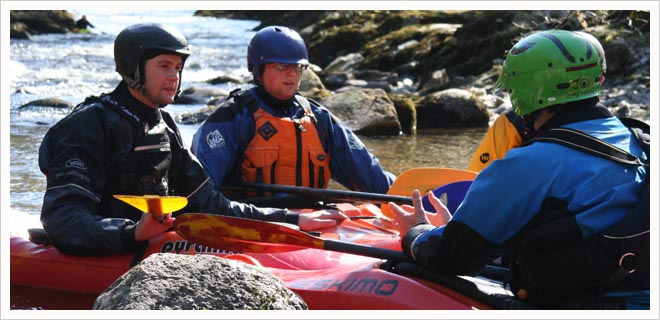 BCU Moderate Water Endorsement White Water kayak Training picture