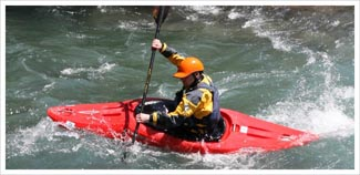 BC 3 star white water kayak picture