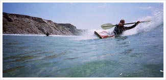 BC 3 star surf kayak picture