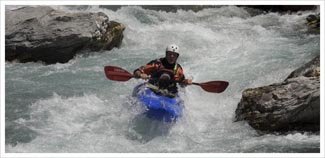 BC advanced white water kayak leader training picture