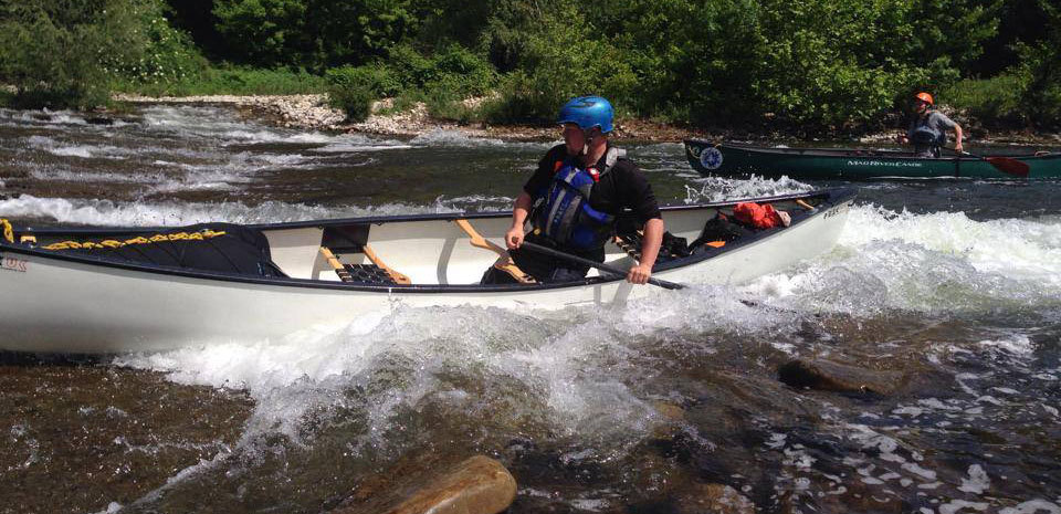BCU moderate water endorsement canoe training picture