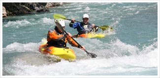 White water kayak coaching picture