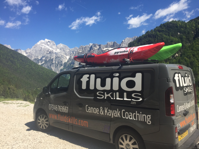 Fluidskills van and canoe picture