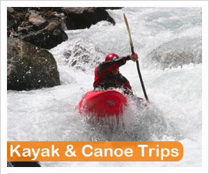 kayak and canoe guided trips